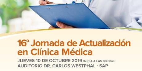 16º Jornada de Actualización en Clínica Medica entradas