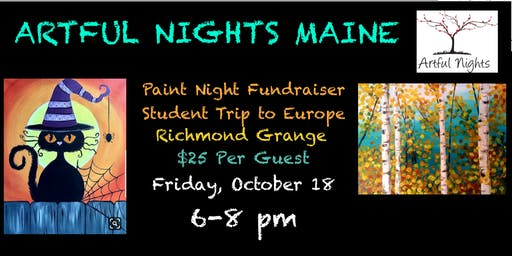 Paint Night Fundraiser Student Trip to Europe