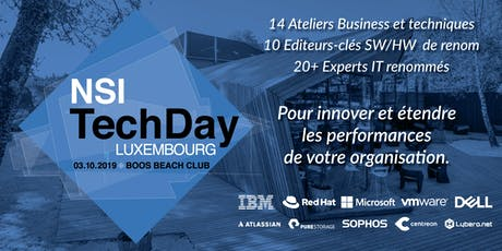 NSI TechDay Luxembourg 2019 billets