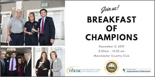 Breakfast of Champions: Celebrating School/Business Partnerships 2019