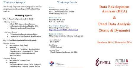 Workshop on Data Envelopment Analysis (DEA) & Panel Data Analysis tickets