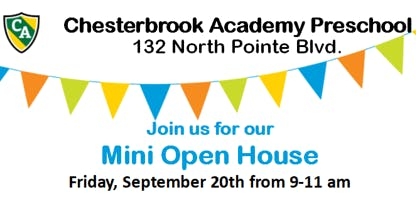 Open House - Chesterbrook Academy