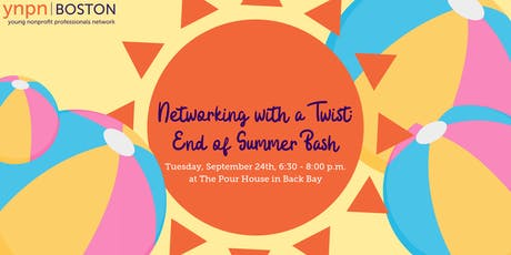 Networking With a Twist: End of Summer Bash tickets
