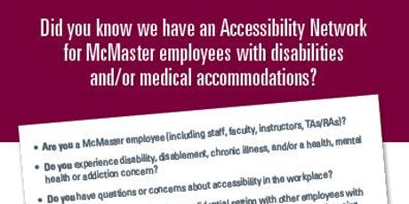 Employee Accessibility Network Meeting I tickets