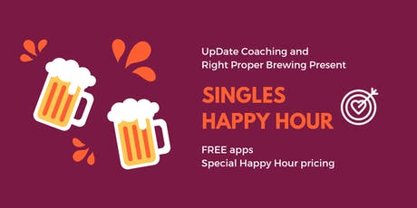 Singles Happy Hour ❤️ | FREE apps!  ages 25-39 tickets