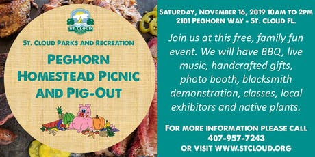 Peghorn Homestead Picnic & Pig-Out tickets