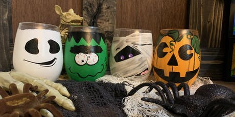Spooky Halloween Stemless Wine Glass Paint and Sip-Russo's tickets