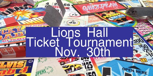 November Ticket Tournament $8000.00 CASH