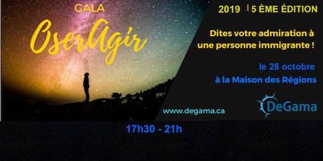 GALA OserAgir 2019 billets