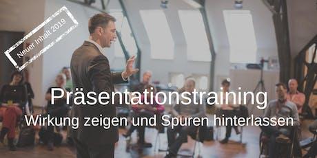 Präsentationstraining I Wirkung zeigen & Spuren hinterlassen Tickets