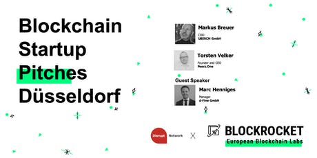 Blockchain Startup Pitches - Düsseldorf Tickets