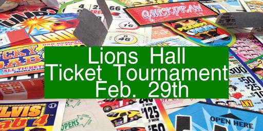 February Ticket Tournament $8000.00 CASH