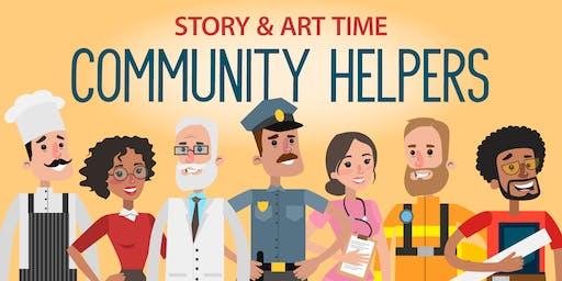 Community Helpers Story & Art Time
