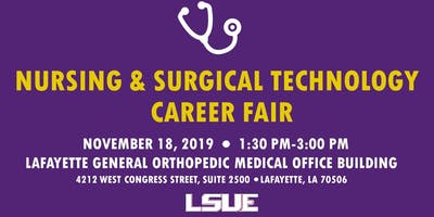 LSUE Health Sciences Career Fair for Nursing and Surgical Technology