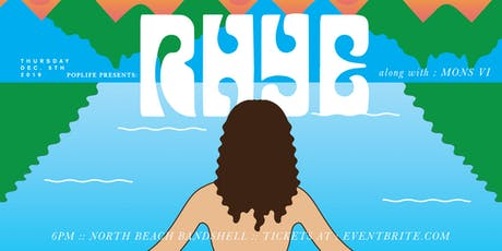 Rhye at the North Beach Bandshell tickets