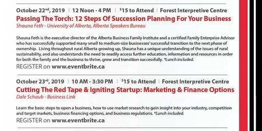 Small Business Week - Workshops, Whitecourt
