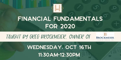 Financial Fundamentals for 2020