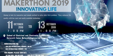 USM MAKERTHON 2019 - Innovating Life tickets