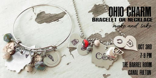Ohio Charm Bracelet Make or Necklace Make and Take