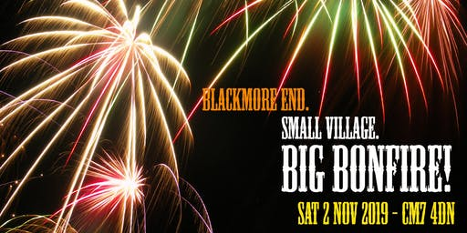 Blackmore End Fireworks Display and Bonfire Night 2019