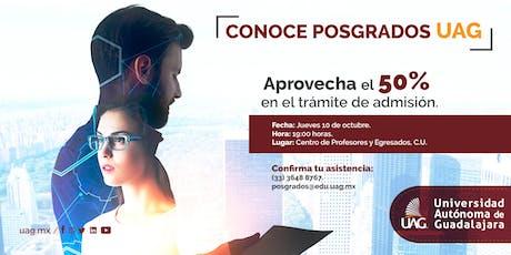 Sesión Informativa de Posgrados boletos