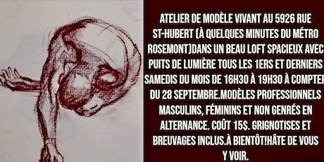 Atelier de modèle vivant/Life drawing workshop à Espace Urbain Montréal billets
