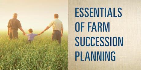 Essentials in Farm Succession Planning - North Fairfield tickets
