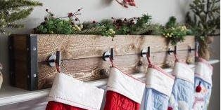 Make a Rustic Stocking Holder