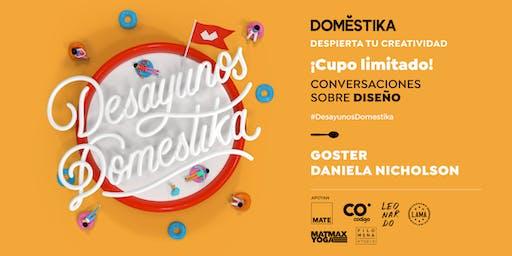 Desayunos Domestika: Diseño con Goster & Daniela Nicholson