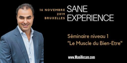 Séminaire Mani Hesam, SANE Expérience niveau 1, à Bruxelles  - Le Muscle du Bien-Etre