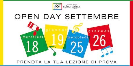 OPEN DAY SCUOLA DI MUSICA COLOURSTRINGS ITALIA biglietti