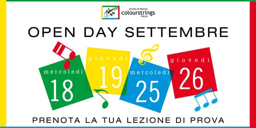 OPEN DAY SCUOLA DI MUSICA COLOURSTRINGS ITALIA