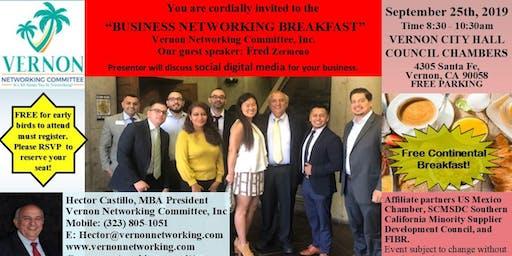 Business Networking Breakfast - Vernon Networking Committee, Inc.