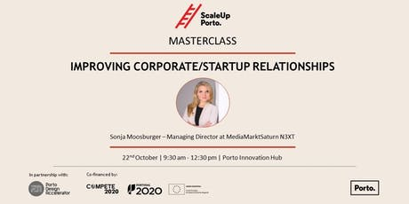 MASTERCLASS | Improving the Corporate/Startup Relationship bilhetes