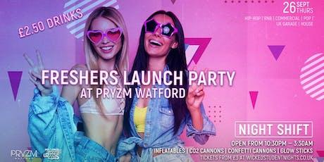 Night Shift @ Pryzm Watford (£2.50 DRINKS) Freshers Party tickets