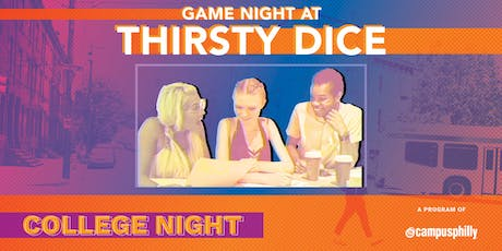 Game Night at Thirsty Dice Board Game Cafe tickets