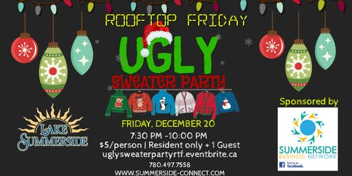 Rooftop Friday Ugly Sweater Party sponsored by The Summerside Business Network