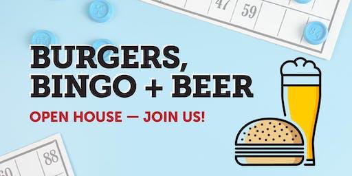 Burgers, Bingo + Beer Open House