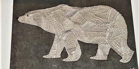 Embossing Art Class - Polar bear tickets