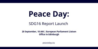 UN Peace Day: SDG16 Report Launch with the European Parliament