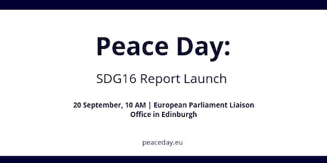UN Peace Day: SDG16 Report Launch with the European Parliament tickets