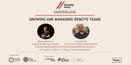 MASTERCLASS | Growing and Managing Remote Teams bilhetes