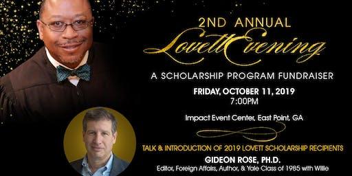 2nd Annual Lovett Evening:  A Scholarship Program Fundraiser