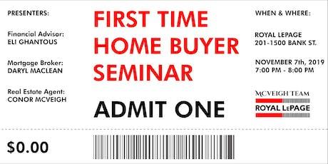 First Time Home Buyer Seminar Ottawa • Free • Nov tickets