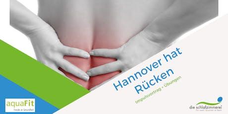 Hannover hat Rücken Tickets