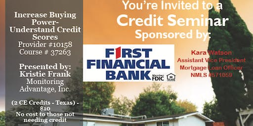 Credit Seminar First Financial 11.7.19