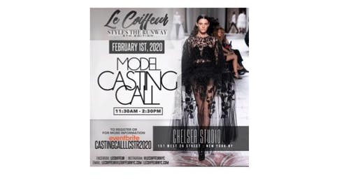Free Model Casting Call - Le Coiffeur Style the Runway 2020 - LCSTR
