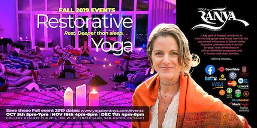 December Yoga by Ranya Restorative Yoga & Sound Healing Journey