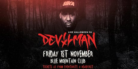 Devilman Halloween live PA at Blue Mountain tickets