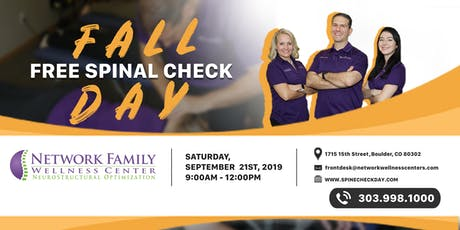 FALL Free Spine Check Day! tickets